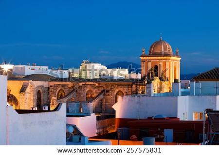 Parish San Mateo, Tarifa, Province of Cadiz, Spain - stock photo