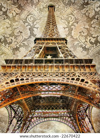 Parisian details -  decorative artistic toned picture - stock photo