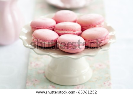 Parisian macarons - stock photo