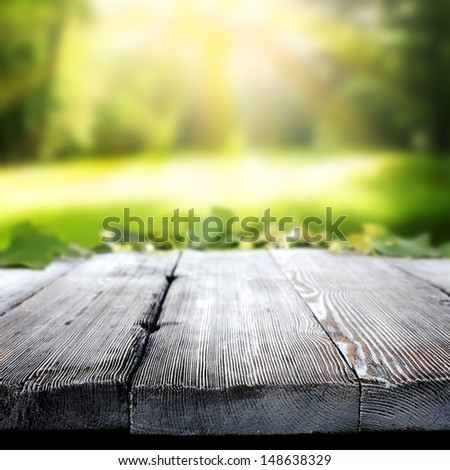 park and table  - stock photo