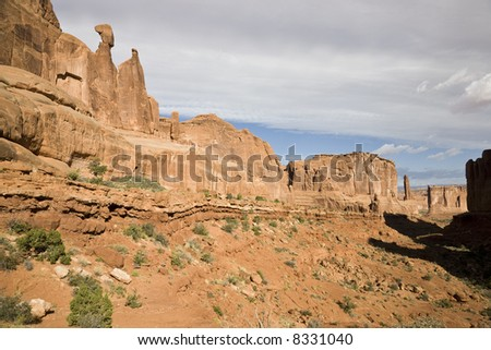 Park Avenue in Arches National Park in Utah, USA