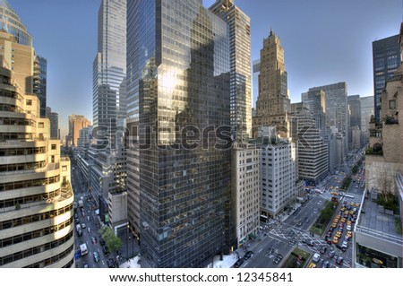 Park avenue,Manhattan midtown,New York city,United states of America - stock photo