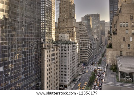 Park avenue,Manhattan midtown,New York city,United states of America - stock photo