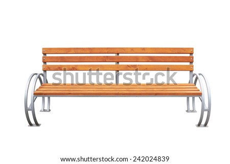 Park bench isolated over a white background - stock photo