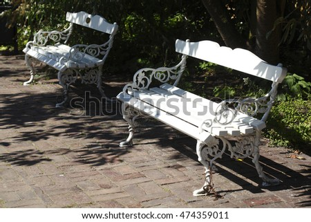 Park Benches, Oldenburg, Germany, Europe