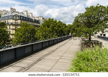 Park in Paris, Ille de France, France - stock photo