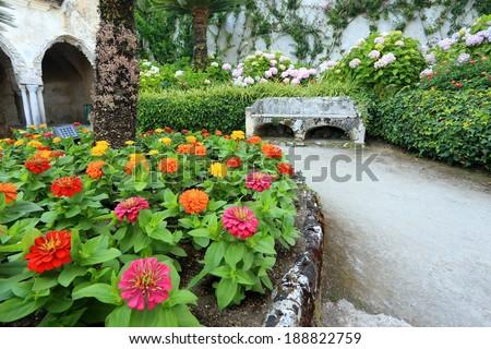 Park in Ravello, Amafi Coast, Italy, Europe - stock photo