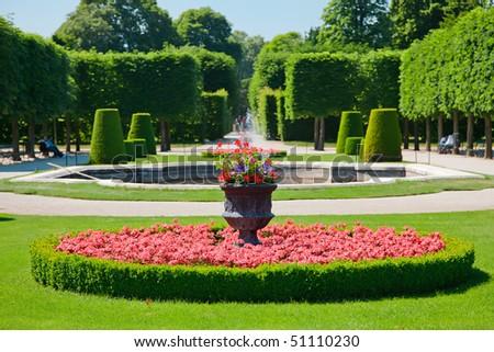 Park in Schonbrunn Palace, Vienna, Austria - stock photo