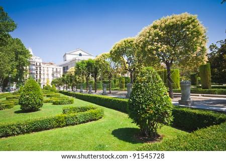 Park in Spain - stock photo
