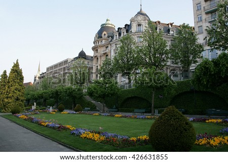 Park in the center of Lausanne, Switzerland