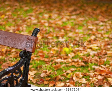 Park in the city Spain - stock photo