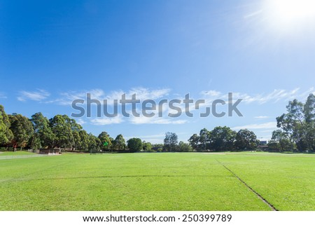 Park in the morning in Sydney - stock photo
