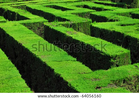 park  labyrinth in barcelona - stock photo