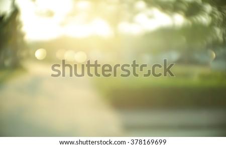 park (lens flare) - stock photo