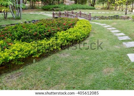 Park Pathway  - stock photo