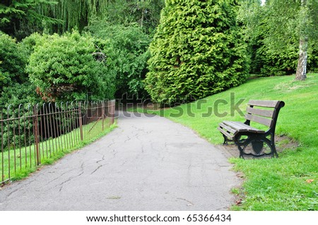 Park Pathway - stock photo