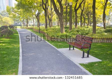 Park seat - stock photo