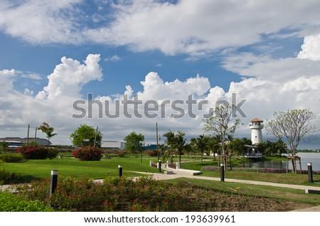 Park sky background - stock photo