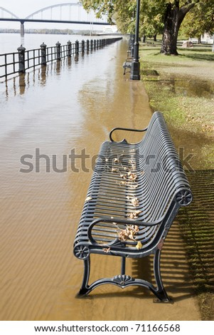 Park under water - stock photo
