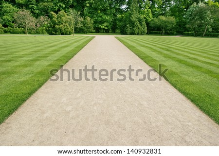 park walkway - stock photo