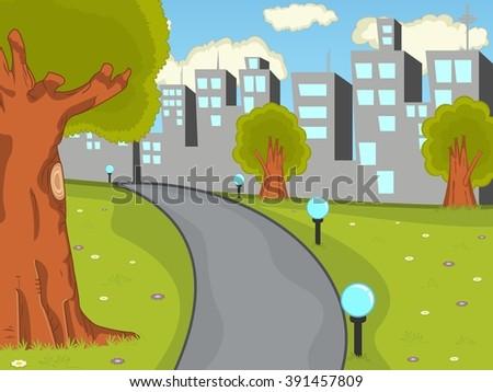 city park cartoon - photo #14