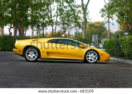 Parked Lamborghini - stock photo