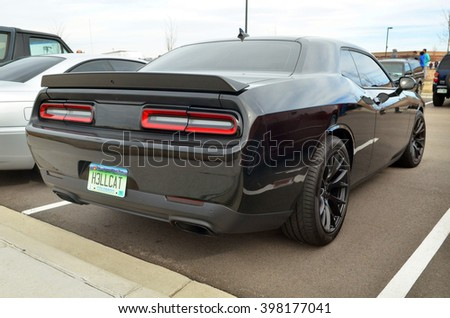 PARKER, COLORADO, USA - MARCH 12, 2016: Dodge Challenger