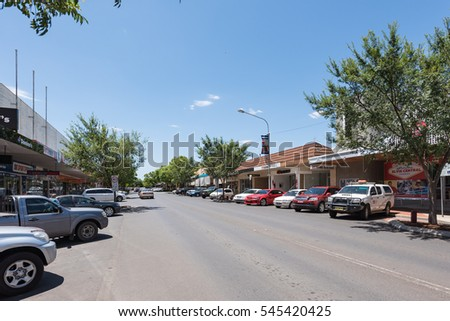 Parkes, New South Wales - December 28, 2016: The main street in Parkes town. They are developing dramatically recently.