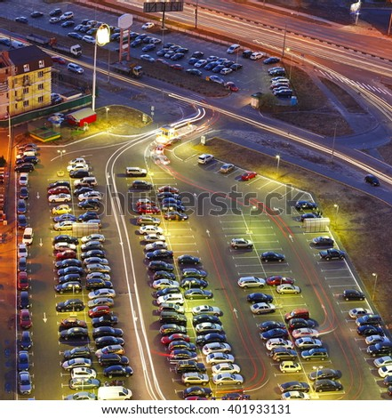 parking cars - stock photo