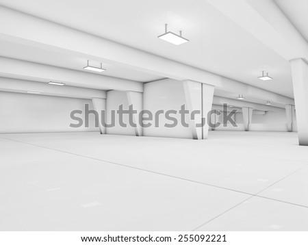 parking 3D rendering - stock photo