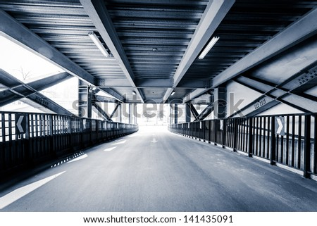 Parking entrance channel - stock photo