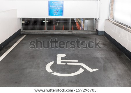 Parking facility for people with disabilities - stock photo