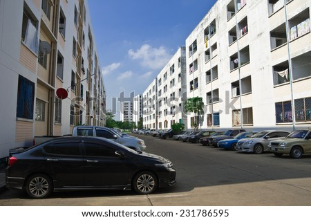 Parking, Housing - stock photo