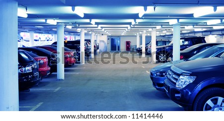 parking interior - stock photo