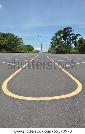 parking lane - stock photo