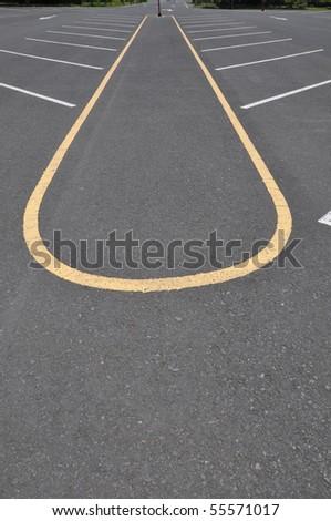 parking lane empty - stock photo
