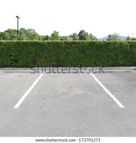Parking lane outdoor in public park - stock photo