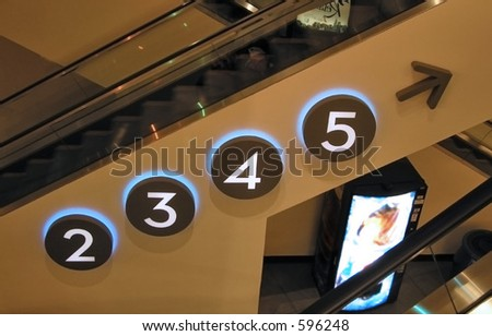Parking Level Numbers - stock photo