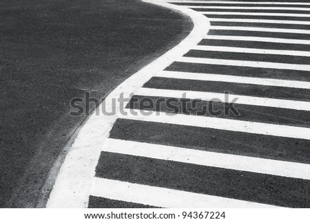 parking lines on the asphalted road - stock photo