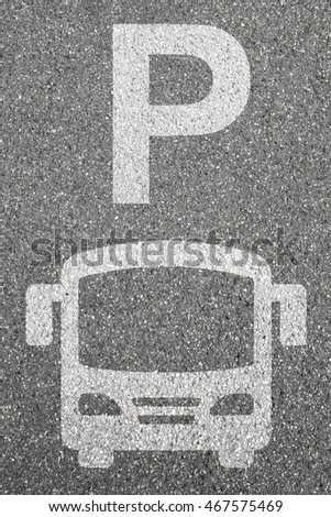 Parking lot sign bus coach park traffic city mobility transport