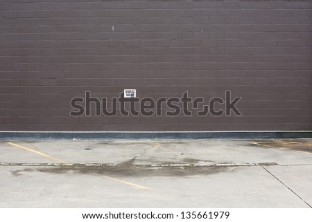 parking lot wall - stock photo