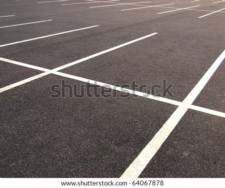 Parking lots - stock photo