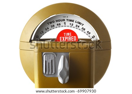 Parking meter - stock photo