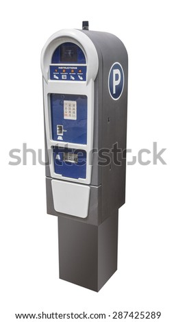 Parking meter for credit cards - stock photo