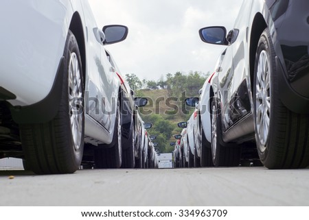 parking of new cars
