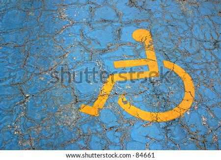 parking place for handicapped - stock photo