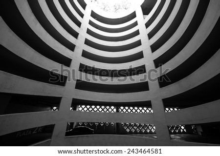Parking Ramp - stock photo
