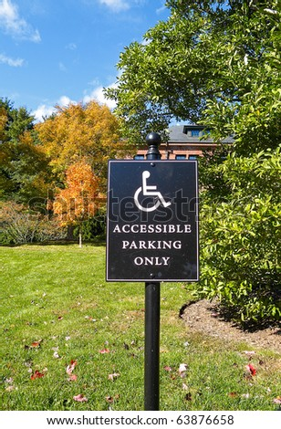 Parking reserved for Handicapped driver