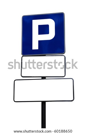 parking sign isolated on a white background