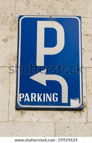 Parking sing. - stock photo